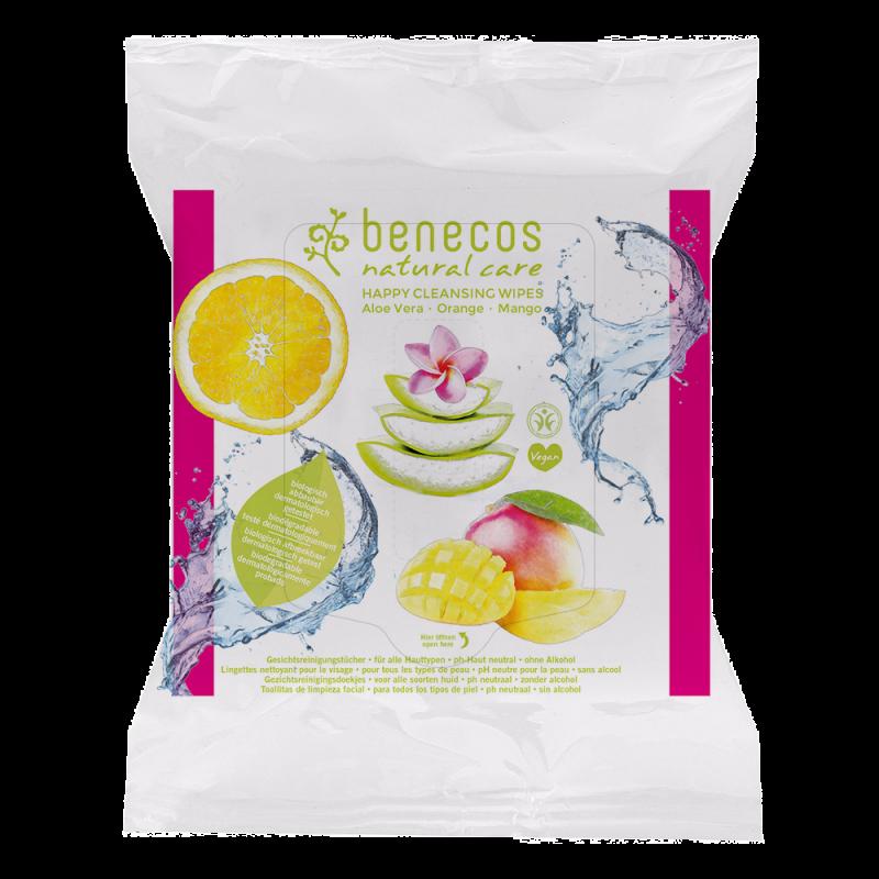 Benecos Salviette biodegradabili pulizia del viso 25 pezzi