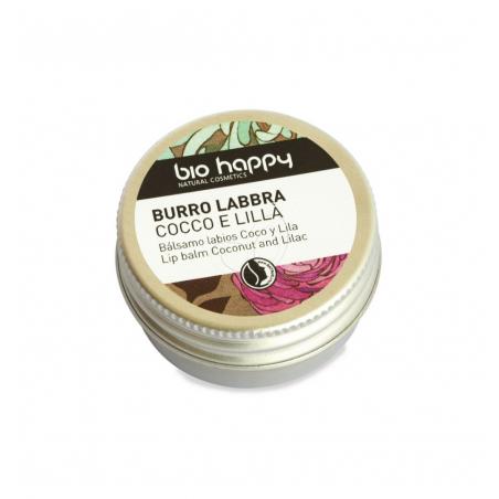 Bio happy - balsamo labbra cocco e lillà 10 ml