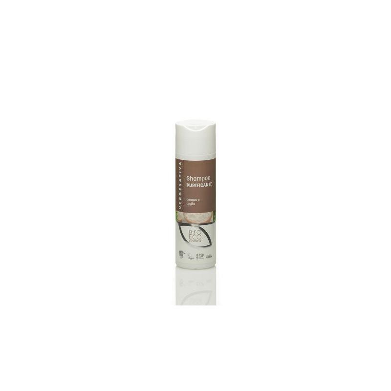 Verdesativa, shampoo purificante canapa e argilla 200 ml