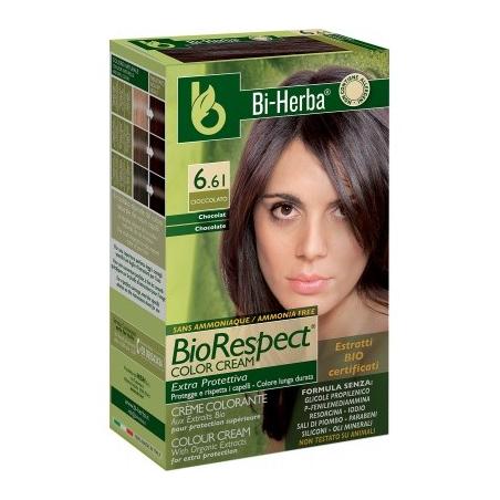 HBH BI-HERBA CREMA COLORANTE SENZA AMMONIACA BIO RESPECT 6.4 ROSSO RAME CHIARO